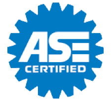 The Automotive Service Excellence ASE Certified Logo shows that Automotive Collision Specialists holds a certification in auto body collision repair and restoration.