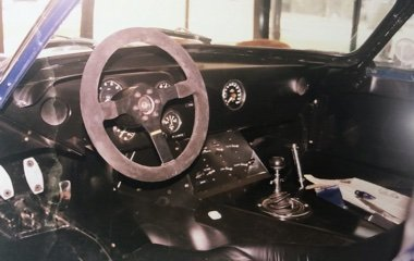 Interior photo of a 1964 Shelby American Daytona (1 of 5) at Automotive Collision Specialists in Fuquay Varina NC after a concourse level restoration.
