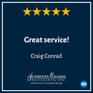 Craig Conrads 5 Star Review Auto Body Repair Shop and Collision Center in Fuquay Varina NC
