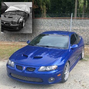 GTO Sports Car Automotive Collision Repair Fuquay Varina NC Before and After