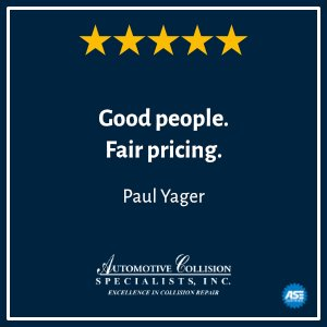 Paul Yagers 5 Star Review Auto Body Repair Shop and Collision Center in Fuquay Varina NC